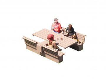 Air3+ picknicktafel